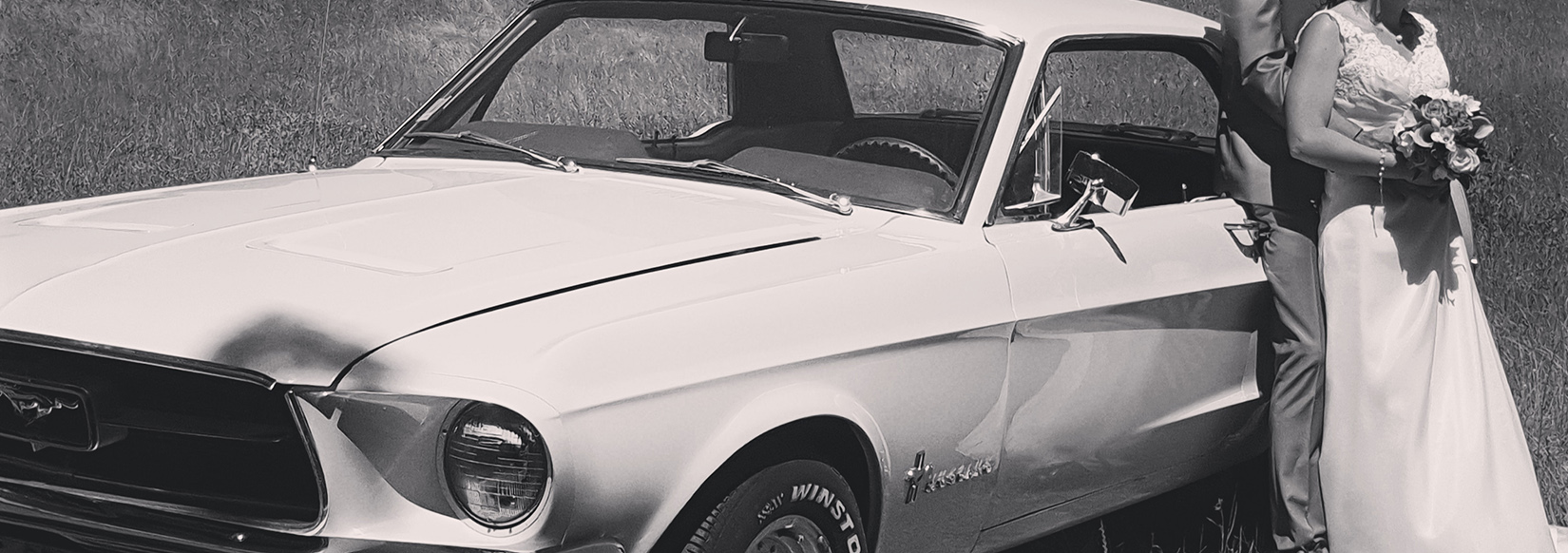 Ford mustang 1967 pour mariage a la rochelle